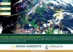 Frente frío cuatro se extenderá sobre el este de México